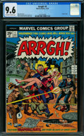 Bronze Age (1970-1979):Humor, Arrgh! #1 (Marvel, 1974) CGC NM+ 9.6 OFF-WHITE TO WHITE pages.