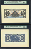Canada Toronto, ON- Dominion Bank $10 1.2.1931 Pick S1029 Ch.# 220-24-06FP; 220-24-06BP Front and Back Proofs PMG Choice...