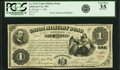 Jefferson City, MO - State of Missouri-Union Military Bond $1 June 1, 1865 Cr. UG21 PCGS Very Fine 35