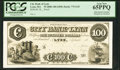Lynn, MA – City Bank of Lynn $100 18__ MA-775 G18 SENC Proof PCGS Gem New 65 PPQ