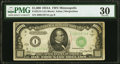 Fr. 2212-I $1,000 1934A Federal Reserve Note. PMG Very Fine 30