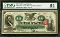 Fr. 95b $10 1863 Legal Tender PMG Choice Uncirculated 64