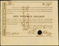 Confederate Notes:Group Lots, Ball 348 Cr. 162E $5,000 1864 Call Certificate Choice About Uncirculated, HOC.. ...
