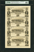 Obsoletes By State:Pennsylvania, Norristown, PA- Bank of Montgomery County $5-$5-$5-$5 18__ G32-G32-G32-G32 Uncut Proof Sheet PMG Gem Uncirculated 66 EPQ...