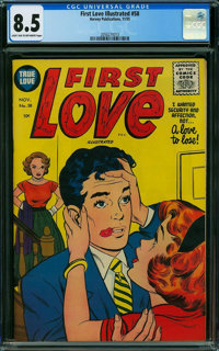 First Love Illustrated #58 (Harvey, 1955) CGC VF+ 8.5 LIGHT TAN TO OFF-WHITE pages