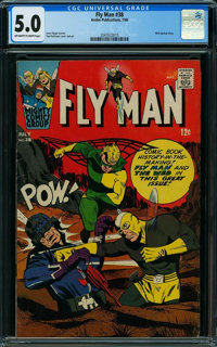 Fly Man #38 (Archie, 1966) CGC VG/FN 5.0 OFF-WHITE TO WHITE pages