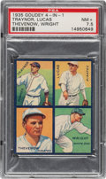 Baseball Cards:Singles (1930-1939), 1935 Goudey 4-In-1 Lucas/Thevenow/Traynor/Wright #7B PSA NM+ 7.5 - Pop One, One Higher! ...