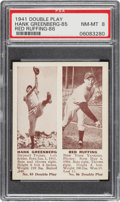 Baseball Cards:Singles (1940-1949), 1941 Double Play Hank Greenberg-Red Ruffing #85/86 PSA NM-MT 8 - Only One Higher. ...