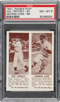 Baseball Cards:Singles (1940-1949), 1941 Double Play Hal Trotsky-George Case #87/88 PSA NM-MT 8 - Only One Higher. ...