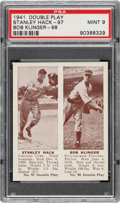 Baseball Cards:Singles (1940-1949), 1941 Double Play Stanley Hack-Bob Klinger #97/98 PSA Mint 9 - Pop One, None Higher. ...