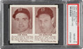 Baseball Cards:Singles (1940-1949), 1941 Double Play Lew Riggs-Leo Durocher #141/142 PSA NM-MT 8 - None Higher. ...