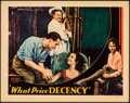"""Movie Posters:Exploitation, What Price Decency (Equitable Pictures, 1933). Fine/Very Fine. Lobby Card (11"""" X 14""""). Exploitation.. ..."""