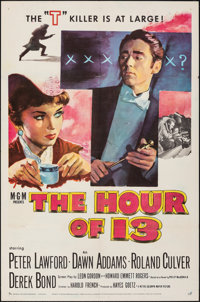 "The Hour of 13 (MGM, 1952). Folded, Very Fine. One Sheet (27"" X 41""). Mystery"