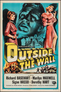 """Movie Posters:Crime, Outside the Wall (Universal International, 1950). Folded, Very Fine-. One Sheet (27"""" X 41""""). Crime.. ..."""