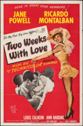 "Movie Posters:Comedy, Two Weeks with Love (MGM, 1950). Folded, Fine/Very Fine. One Sheet (27"" X 41""). Comedy.. ..."