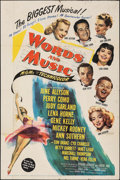 """Movie Posters:Musical, Words and Music (MGM, 1948). Folded, Fine+. One Sheet (27"""" X 41""""). Musical.. ..."""
