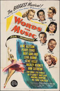 """Words and Music (MGM, 1948). Folded, Fine+. One Sheet (27"""" X 41""""). Musical"""