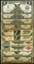 Large Size:Group Lots, Ten Large Size Type Notes Very Good or Better.. ... (Total: 10 notes)