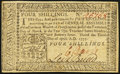 Colonial Notes:Pennsylvania, Pennsylvania April 10, 1777 4s Extremely Fine-About New.. ...