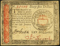 Continental Currency January 14, 1779 $65 Extremely Fine