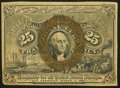 Fractional Currency:Second Issue, Fr. 1286a 25¢ Second Issue Slate Back Extremely Fine.. ...