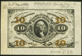 Fractional Currency:Third Issue, J.N. Huston Courtesy Autograph Fr. 1251SP 10¢ Third Issue Wide Margin Face Extremely Fine.. ...