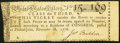 Continental Congress United States Lottery Ticket Class the Third November 18, 1776 About New