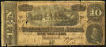Confederate Notes:1864 Issues, Advertising Note T68 $10 1864 Very Good-Fine.. ...
