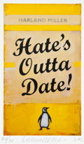 Prints & Multiples, Harland Miller (b. 1964). Hate's Outta Date!, 2017. Inkjet print in colors on Somerset wove paper. 5-3/4 x 3-1/2 inches ...