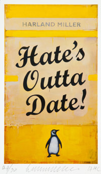 Harland Miller (b. 1964) Hate's Outta Date!, 2017 Inkjet print in colors on Somerset wove paper 5