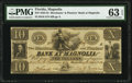 Obsoletes By State:Florida, Magnolia, FL- Merchants' and Planters' Bank at Magnolia $10 Nov. 14, 1833 G8 Benice 4 PMG Choice Uncirculated 63 EPQ.. ...