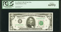 Fr. 1976-E* $5 1981 Federal Reserve Note. PCGS Gem New 66PPQ