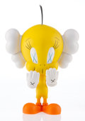 Collectible, KAWS X Warner Bros.. Tweety, 2010. Painted cast vinyl. 9-1/4 x 6-1/2 x 4 inches (23.5 x 16.5 x 10.2 cm). Stamped on the ...