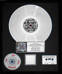 "Red Hot Chili Peppers Blood Sugar Sex Magik 17"" x 21"" RIAA Hologram Platinum Sales Award Presented to Band (Wa..."
