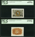 Fr. 1232SP 5¢ Second Issue Wide Margin Face PCGS Gem New 66PPQ Fr. 1232SP 5¢ Second Issue Wide Margin Back PCG...