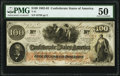 Confederate Notes:1862 Issues, T41 $100 1862 PF- 25 Cr. 318A PMG About Uncirculated 50.. ...