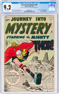 Journey Into Mystery #86 (Marvel, 1962) CGC NM- 9.2 Off-white pages