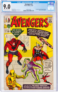 The Avengers #2 (Marvel, 1963) CGC VF/NM 9.0 Off-white to white pages
