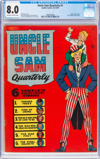 Uncle Sam Quarterly #1 (Quality, 1941) CGC VF 8.0 Off-white to white pages