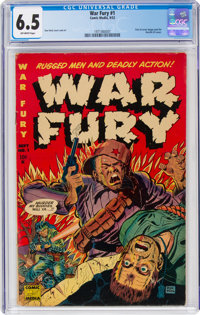 War Fury #1 (Comic Media, 1952) CGC FN+ 6.5 Off-white pages