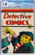 Platinum Age (1897-1937):Miscellaneous, Detective Comics #2 (DC, 1937) CGC GD- 1.8 Cream to off-wh...