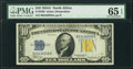 Small Size:World War II Emergency Notes, Fr. 2309 $10 1934A North Africa Silver Certificate. PMG Gem Uncirculated 65 EPQ.. ...