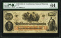 Confederate Notes:1862 Issues, T41 $100 1862 PF-11 Cr. 319A PMG Choice Uncirculated 64.. ...