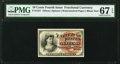 Fractional Currency:Fourth Issue, Fr. 1257 10¢ Fourth Issue PMG Superb Gem Unc 67 EPQ.. ...