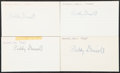 Autographs:Index Cards, Paddy Driscoll Signed Index Cards, Lot of 4. ...