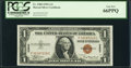 Small Size:World War II Emergency Notes, Fr. 2300 $1 1935A Hawaii Silver Certificate. P-C Block. PCGS Gem New 66PPQ.. ...