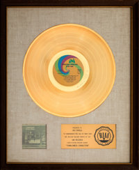 "Elton John Tumbleweed Connection 17 1/2"" x 21 1/2"" White Mat RIAA Gold Sales Award (Uni, 197"
