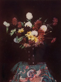 Léon Didier (French, Active 1900-1920) Vase of Flowers, circa 1908 Pinatype print from Autochrome transparency 5-...