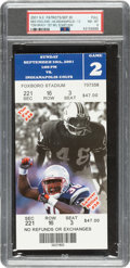 Football Collectibles:Tickets, 2001 New England Patriots vs. Indianapolis Colts Full Tick...