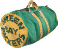 Football Collectibles:Others, Circa 1960's-1970's Green Bay Packers Team Issued, Used Equipment Bag. ...